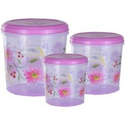 Kuber Industries Big Plastic Container Set/Storage Box Set of 3 Pcs (11000 Ml & 7500 Ml & 5000 Ml ) Contain12