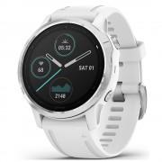 Smartwatch Garmin Fenix 6S Silver cu White Band (42mm)