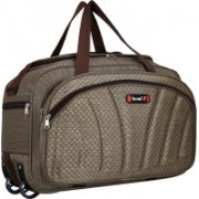 TORRENTO (Expandable) STYLISH TRAVELLING IN BEST QUALITY FABRIC TWO WHEEL DUUFEL BAG 22 INCH Travel Duffel Bag(Brown)