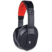 iBall musitap Over Ear Headset with Mic Black Red