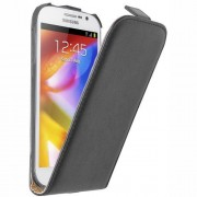 Samsung Galaxy Grand I9080/I9082 Flip2 Кожен Калъф + Протектор