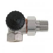 Heimeier Thermostatische radiatorafsluiter 3/8 dubbel haaks LI Kvs 1,10 m3 h 231101000
