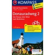 Fietskaart 7004 Donauradweg 2 | Kompass