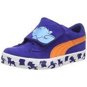 Adidasi Puma Vulc Tom si Jerry albastru oranj