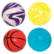 Baker Ross Value Pack Mixed Bouncy Balls - 30 Super Bouncy Rubber Balls In 15 Assorted Designs. Jet High Bounce Balls. Size 2.7cm.
