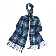 Barbour Icons Tartan Lambswool Scarf, One-size, Navy