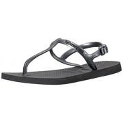 Havaianas Women's Freedom Sl Sandal Flip Flop, Black, 35 BR/6 W US
