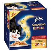 Felix Megapakiet Felix Sensations Extras w galarecie, 48 x 100 g - 2 smaki (mięso i ryba) Darmowa Dostawa od 89 zł