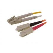 2 Meter SC to LC Duplex Multimode 50/125 Fiber Optic Patch Cable - Krone