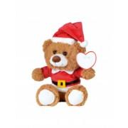Ursulet de Plus inaltime 19 cm Kidonero Colectia Micul meu prieten 11NP1903 poliester maro rosu radiera inclusa