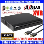Dahua XVR video recorder 16ch 1080P replace NVR and DVR DHI-XVR7216AN P2P Support HDCVI/ AHD/TVI/CVBS/IP 1U Digital Video Recor