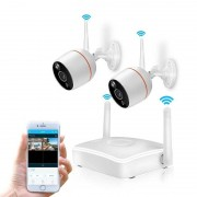 Anpwoo kever instellen 2CH 2.0MP 1/2.7 inch CMOS IP-camera's 1080 P Wireless NVR Kit steun Night Vision / Motion Detection(White)