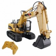 Jojos Excavator Tractor with Remote Control Flashing Lights Sound Multi-color for Kids