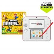 Nintendo Pack Nintendo 2DS Blanca/Roja + New Super Mario Bros 2