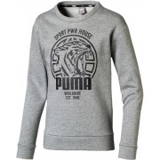 Puma Alpha Graphic Crew Tröja, Medium Grey Hea 110