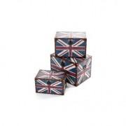 Miliboo Lot de 3 boites imprimées UK gigognes PICADILLY