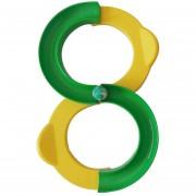 Niños 88 En Forma De Integración Ferroviaria Sentido Juguetes De Capacitación Atención Coordinación Ojo - Mano, Juguetes Educativos, Tamaño: 34 * 21cm (amarillo + Verde)