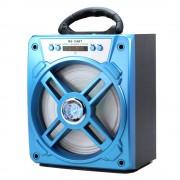 Hordozható hangszóró Bluetooth multimédia lejátszó akkumulátorral LED hangszóróval Mp3,FM-Rádió, 3,5 jack, USB, Micro SD kártya - MS-154BT