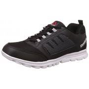 Reebok Men's Run Stormer Black, Metallic Silver and White Running Shoes - 8 UK/India (42 EU)(9 US)