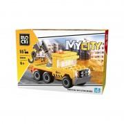 Joc constructie Blocki, Camion cu macara, 55 piese