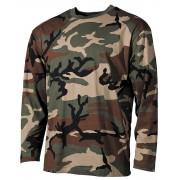 Bluza woodland bawełniana z długim rękawem, kamuflaż amerykański