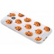 Halloween design pompoentjes TPU hoesje voor de HTC One M8 / M8s