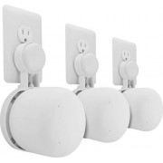 Mount Genie - The Point Outlet Mount for Google Nest Wi-Fi Add-On Points (3-Pack) - White