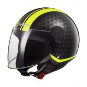 Ls2 Moto Přilba Ls2 Of558 Sphere Lux Crush Black H-V Yellow Xxl (59)