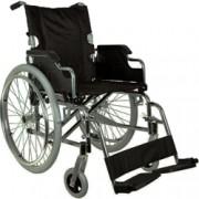 sedia a rotelle / carrozzina pieghevole adulto royal - cromata