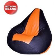 Ink Craft orange black Hi-Back Gamer Bean Bag Chair Cover Only - XXL