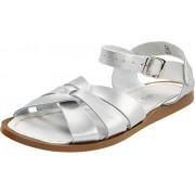 Salt Water Sandals by Hoy Shoe Original Sandal (Toddler/Little Kid/Big Kid/Women's), Silver, 4 M US Toddler
