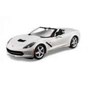 Maisto 1:24 Assembly Scale Line 2014 Corvette Stingray Convertible Diecast Model Kit (Colors May Vary)