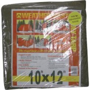 Dize Brown Poly Tarp - 10Ft. x 12Ft., Model BT1012