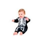 Fantasia De Esqueleto Halloween Bebê Macacão