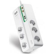Kabel Razvodnik Naponski APC PMH63VT-GR, bijela, Schuko M utikač - Schuko F utičnica, 2.74m, 1x Schuko utikač, 6x Schuko utičnica, prekidač, prenaponska zaštita