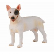 Figurina Caine Bull Terrier mascul Collecta, 8.5 cm, 3 ani+