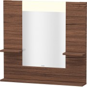Duravit Vero - Miroir avec éclairage LED 850mm dark walnut / mirrored