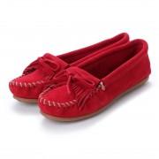 ミネトンカ Minnetonka KILTY Suede Moccasin Shoes (チェリー レッド) レディース