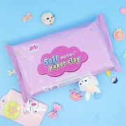Paper Clay 120G White SOFT Ultralight DIY Non-Toxic Non-Brushed Space Sand Kids Play Toy