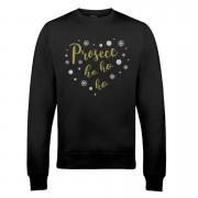 Prosecc Ho Ho Ho Xmas Sweatshirt - L - Black