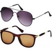 Freny Exim Aviator Sunglasses(Violet, Brown)