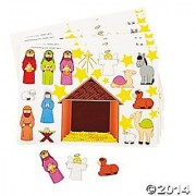 2 Dozen (24) Make a NATIVITY SCENE Sticker Sheets Religious Education - VBS CHRISTMAS Party Classroom Activity FAVORS - Holiday GIVEAWAY