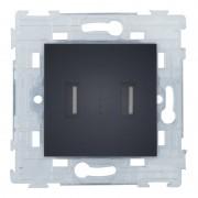 SOPIA USB Doppelsteckdose (schwarz-matt) 159397