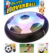 Kids Air Power Soccer Football Training Football Indoor Outdoor Disk Hover Ball Game with Foam Bumpers and Light Up LED Lights Battery Operated