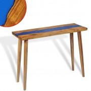 vidaXL Console Table Teak Resin 100x35x75 cm