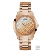 Guess Analoog Horloge Glitter - roze goud - Size: T/U