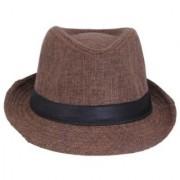 Tahiro Brown Cotton Fedora Hat - Pack Of 1