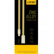 LDNIO Fast Charging Data USB Cable MicroUSB 1 Meter Zinc Alloy Connectors - Gold