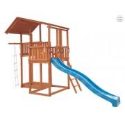 Detské zábavné centrum šmýkačka 3m +alpská plošina s lezeckým rebríkom