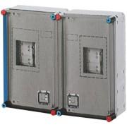 Hensel Basic, 600x450x185mm, 2 db 1 vagy 3 fázisú mérőnek + hangfr. vevő, IP65 (HB33KO)